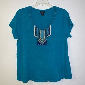 Lucky brand embellished top 1 X